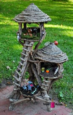 The fairies that live here like to be high up so that they can see what the ants are doing Fairy House