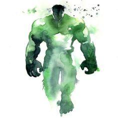 Hulk watercolor by Blule