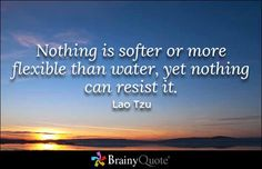 Nothing is softer or more flexible than water, yet nothing can resist it. - Lao Tzu