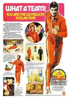 Six Million Dollar Bionic Man Toy Advertising Poster Re-Print 70s Toys, Retro Toys, Gi Joe, Childhood Toys, Childhood Memories, Vintage Advertisements, Vintage Ads, Vintage Dolls, Bionic Woman