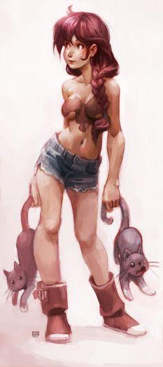 catfighterperson... by DawnElaineDarkwood.deviantart.com on @deviantART