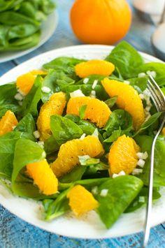 Sałatka ze szpinakiem i pomarańczą Fruit Salad, Cantaloupe, Cooking, Food, Diet, Balcony, Cucina, Kochen, Essen