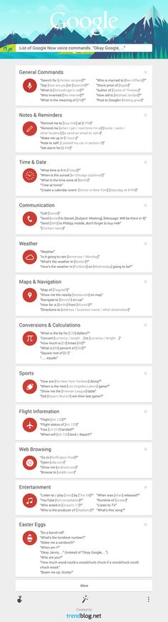 Via @Lifehacker - Learn Over 60 #Google Now Commands with This #Infographic (extensive set of tips)