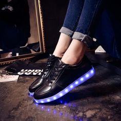 Led shoes for adults Plus size light up luminous women shoes 2017 fashion shoes