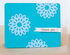 Flower Thank You Card using the Intricate Shape Punches www.fiskars.com