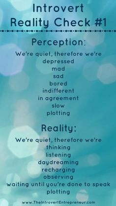 Introvert Reality Check #1 (Love the last one in each list HAHAHAHA)