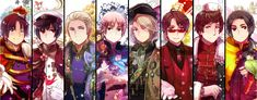 2P Hetalia Italy, Japan, Germany, England, France, America (USA), Russia, and China Beautiful World
