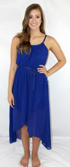 Kiki La'Rue - Braidy Hi-Low Dress - Royal Blue, $52.00 (http://www.kikilarue.com/braidy-hi-low-dress-royal-blue/)