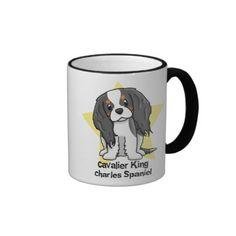Kawaii Star Tricolor Cavalier King Charles Spaniel Coffee Mug