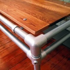 Items Similar To Portland Furniture Galvanized Pipe And Salvaged Butcher Block Modern Sofa Table On Etsy