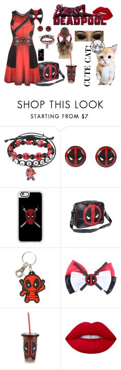 """""""Lady Deadpool"""" by undercovernerdpanda on Polyvore featuring Marvel, Casetify, Lime Crime and Cyrus"""