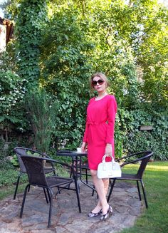 Sukienka Lamia różowa z długim rękawem
