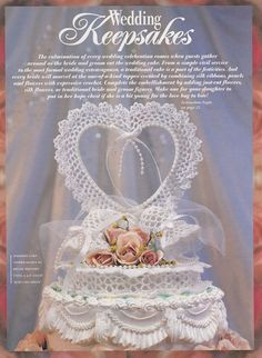 Wedding Crochet Patterns Keepsakes Garter by PaperButtercup
