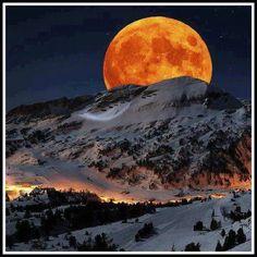 Super Moon.. Sierra Navada Sequoia National Park California  — with Deepak Dipu Sadarangani.