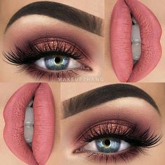"""#boulonguisebeauty @makeupthang - I just love cranberry/pink/rosegold shades! The @gerardcosmetics Hydra Matte liquid lipstick in """"Serenity"""" is a favorite combined with the Huda Beauty Rose Gold Edition palette (this is a collaboration with #gerardcosmetics) --- BROWS: @anastasiabeverlyhills @norvina Dipbrow Pomade """"Granite"""" ✖️ --- EYES: @hudabeauty @shophudabeauty Rose Gold Edition Palette """"Shy"""", """"Flamingo"""", """"Bossy"""", """"Suede"""", """"Rose Gold"""" and """"Moon Dust"""" ✖️ @wakeupandmakeup @eyerisbeauty..."""