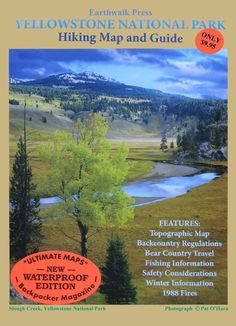 Yellowstone National Park, Wyoming and Montana, waterproof by Earthwalk Press