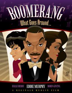 Boomerang by braeonArt on DeviantArt Black Cartoon, Cartoon Art, Eddie Murphy Movies, Old School Movies, Black Love Art, Black Tv, Black Comics, Black Art Pictures, Celebrity Caricatures