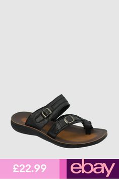 Mens Leather Black Big Size Toe Grip Thong Sandals Summer Slip on Slippers Sandals 2018, Stylish Sandals, Fashion Sandals, Leather Men, Birkenstock, Slippers, Slip On, Ebay, Accessories