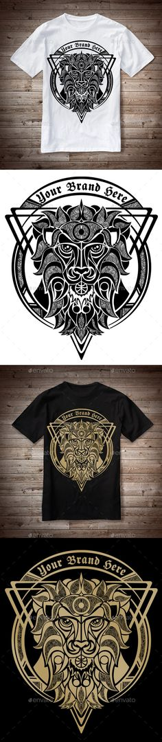 #T-Shirt Illustration Lion Theme - T-Shirts Download here:  https://graphicriver.net/item/tshirt-illustration-lion-theme/10729899?ref=alena994