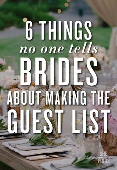 6 Things No One Tells Brides About Making The Guest List The Swanky Rooster is venturing into the wedding arena. Check out our new printable wedding planner. With over 100 pages, your planning will be complete! Daytime Wedding, Wedding Prep, Wedding Advice, Wedding Planning Tips, Plan Your Wedding, Budget Wedding, Wedding Day, Wedding Stuff, Dream Wedding