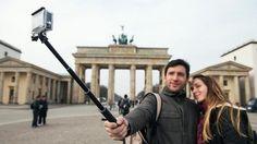 Selfies und die Rechte an am Hintergrund.