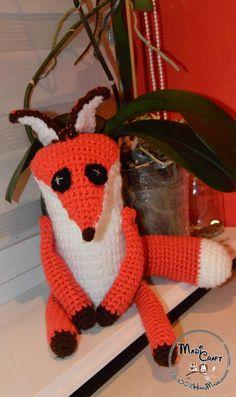 Szydełkowy Lisek z Małego Księcia  w MadiCraft na DaWanda.com
