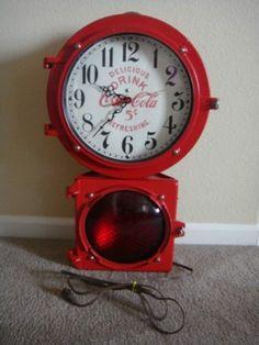 Vintage Econolite Coca Cola Lighted Clock Unusual