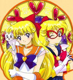 artemis, sailor venus, and sailor V