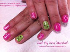 Shellac Gel Polish with Young Nails glitter Nail Art  #SephoraNailSpotting