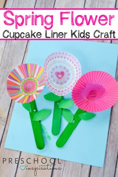 Spring Cupcake Liner Flowers Craft Need a perfect art or craft idea for spring? These Cupcake Liner Flowers are so sweet and a great for a flower theme too! The post Spring Cupcake Liner Flowers Craft appeared first on Easy flowers. Spring Crafts For Kids, Crafts For Kids To Make, Art For Kids, Crafts For Preschoolers, Arts And Crafts For Kids Easy, Cupcake Liner Crafts, Cupcake Liner Flowers, Cupcake Flower, Spring Activities
