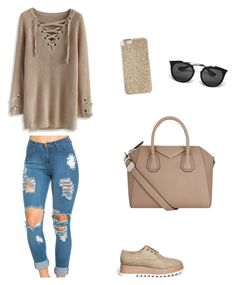 """""""Estilo Casual"""" by antoberneche on Polyvore featuring Chicwish, Pedder Red, Givenchy, Michael Kors and Prada"""