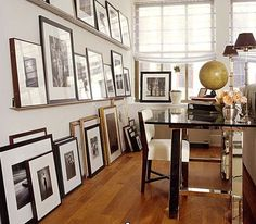 totally need to do this in the studio to give our photography studio a gallery feel!