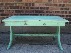 mint green table