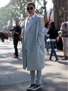 Milaan Fashion Week s/s 2014 - Streetstyle @ witteboordencriminaliteit #fashionweek #streetstyle #ELLE