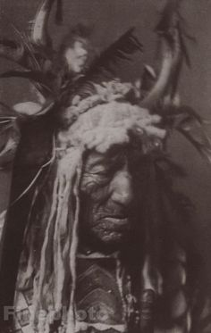 Hidatsa Chief, photographed by Edward S. Curtis