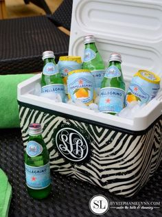 Fabric Covered Cooler by @Stephanie Close Lynn #MichaelsFabric