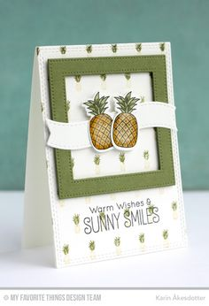 Polynesian Paradise, Pineapple Background, Blueprints 25 Die-namics, Double Stitched Rectangle STAX Die-namics, Pierced Square Frames Die-namics, Polynesian Paradise Die-namics - Karin Åkesdotter   #mftstamps