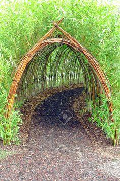 Home Garden Stunning Creative DIY Garden Archway Design Ideas 34 Diy Garden, Dream Garden, Garden Paths, Garden Projects, Bamboo Garden Ideas, Bamboo Ideas, Potager Garden, Garden Borders, Garden Beds