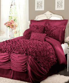 Love this Raspberry Lucia Comforter Set by Lush Décor on #zulily! #zulilyfinds