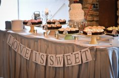 Wedding Cupcake Table