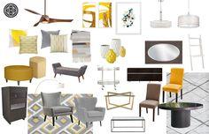 North Virginia Living Room Concept Board