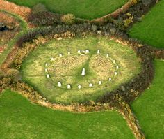 he stone circle at Boscawen Un, St Buryan. Photo © Cornwall County Council Historic Environment Service