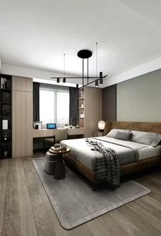 Small Room Design Bedroom, Bedroom Furniture Design, Modern Bedroom Design, Home Room Design, Home Interior Design, Small Apartment Interior, Apartment Design, Small Bedroom Interior, Modern Luxury Bedroom