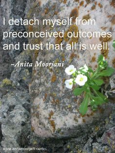 I detach myself from preconceived outcomes and trust that all is well - Anita Moorjani