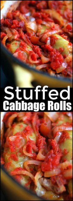 These Stuffed Cabbage Rolls are my favorite recipe in the WORLD!  I can not make enough!