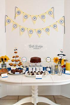 Yellow &  Blue Birthday party. #yellow #blue #birthdayparty