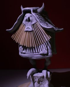 #claysculpture of a #demon fed by memories of reading creature entries from RPG source books, from #monsterpedia comic volume 3, front