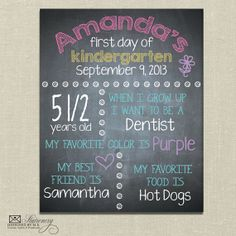 Printable Back to School Sign - Perfect for First Day of School Photos - Girl Sign