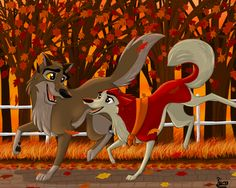 Jenna and Balto An Autumn Run by ~Elana-Louise on deviantART