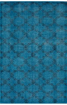 Claude Modena Overdyed Aqua Rug for living room. It's kinda bright but it will mostly be under sofa and coffee table.